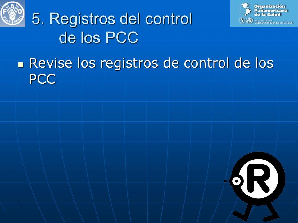 5. Registros del control de los PCC