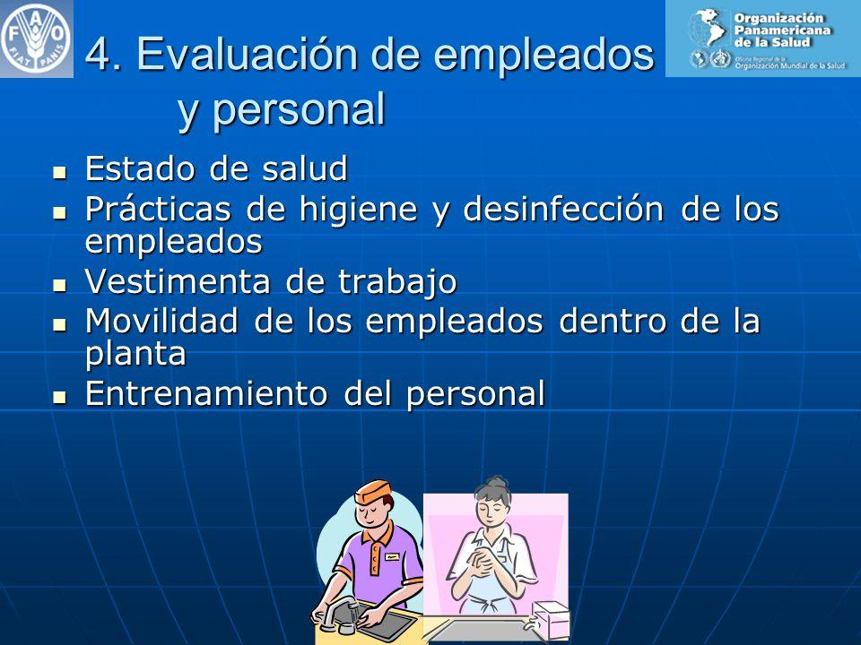 4. Evaluación de empleados y personal