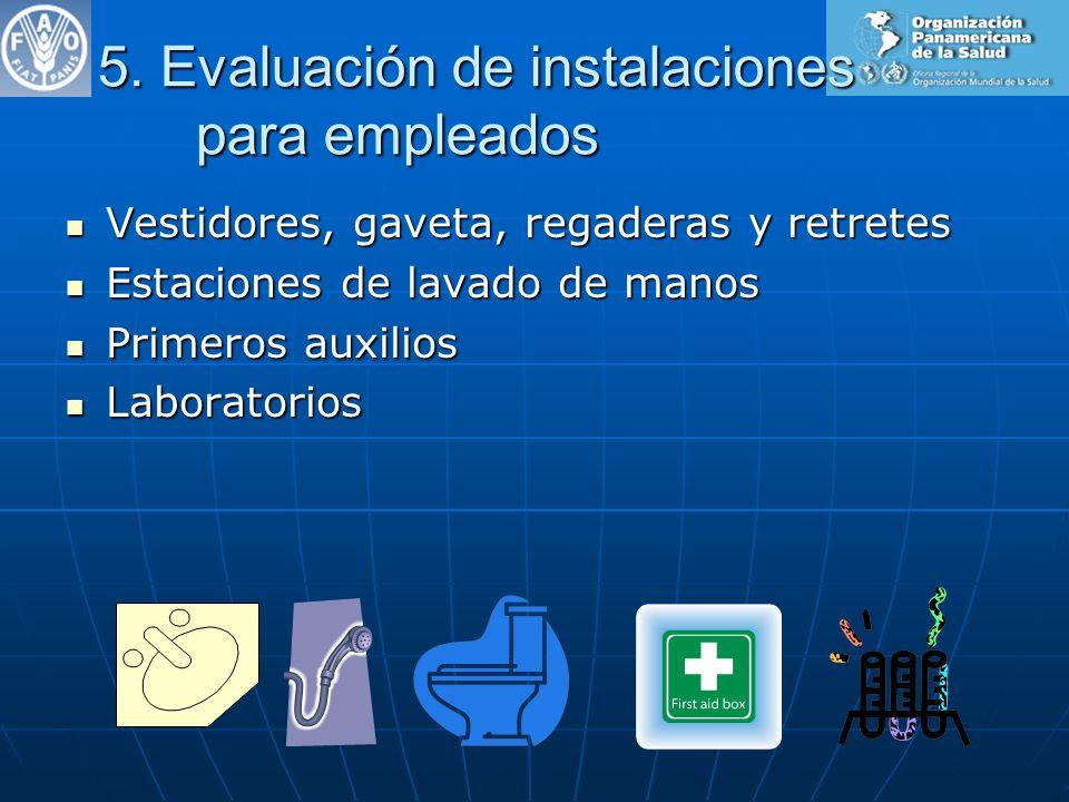 5. Evaluación de instalaciones para empleados