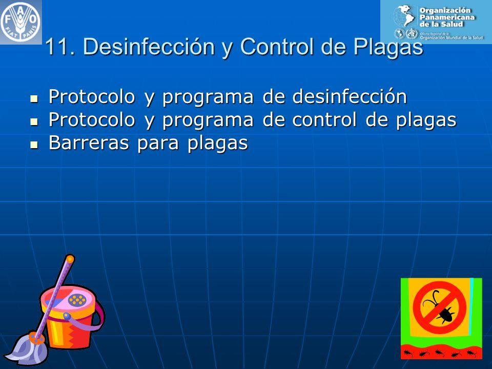 11. Desinfección y Control de Plagas