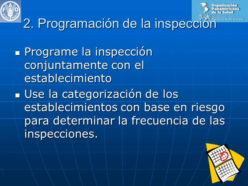 2. Programación de la inspección