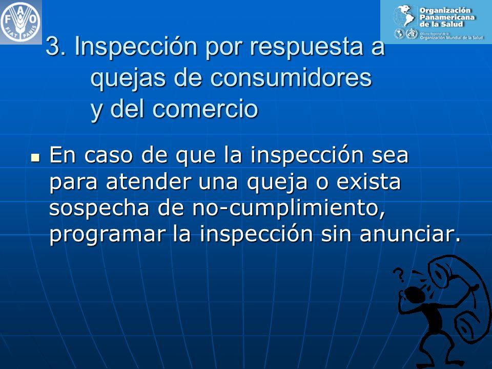 3. Inspección por respuesta a quejas de consumidores y del comercio