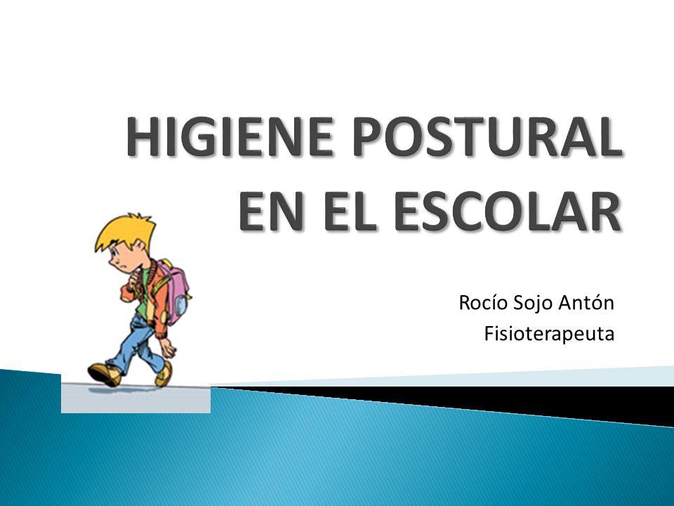 HIGIENE POSTURAL EN EL ESCOLAR