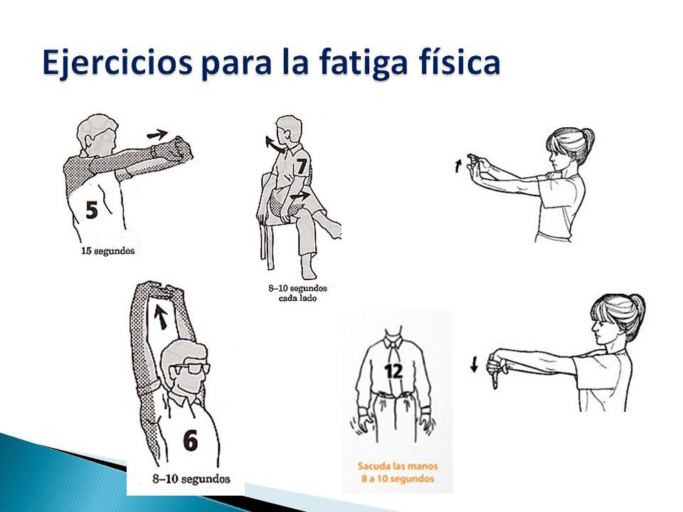 Ejercicios para la fatiga física