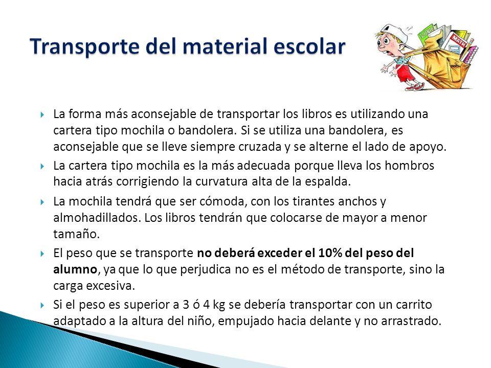 Transporte del material escolar