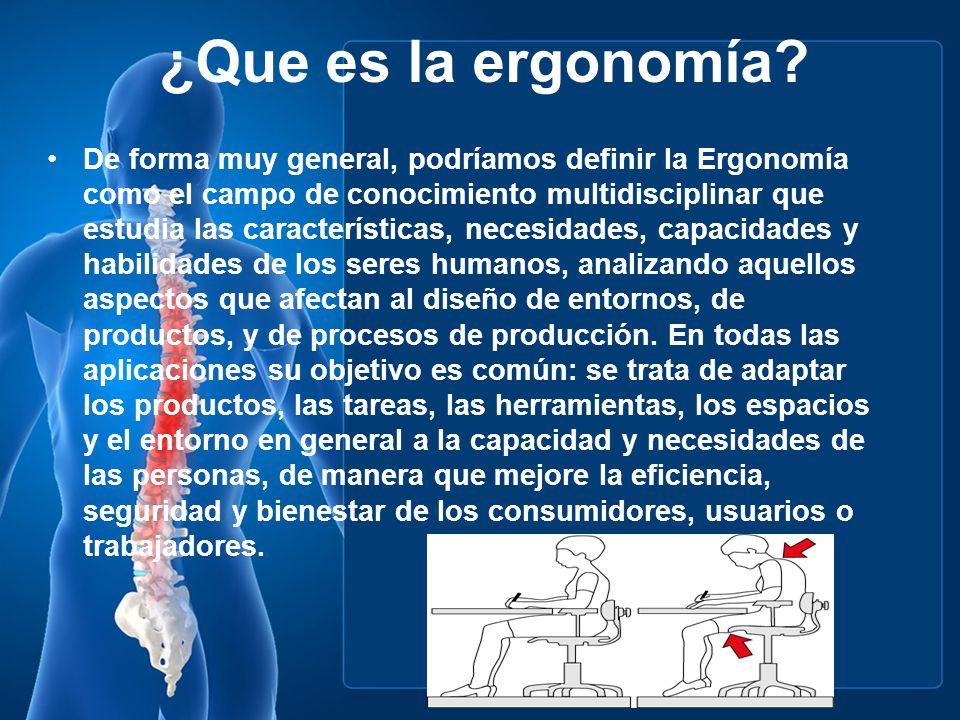 ¿Que es la ergonomía