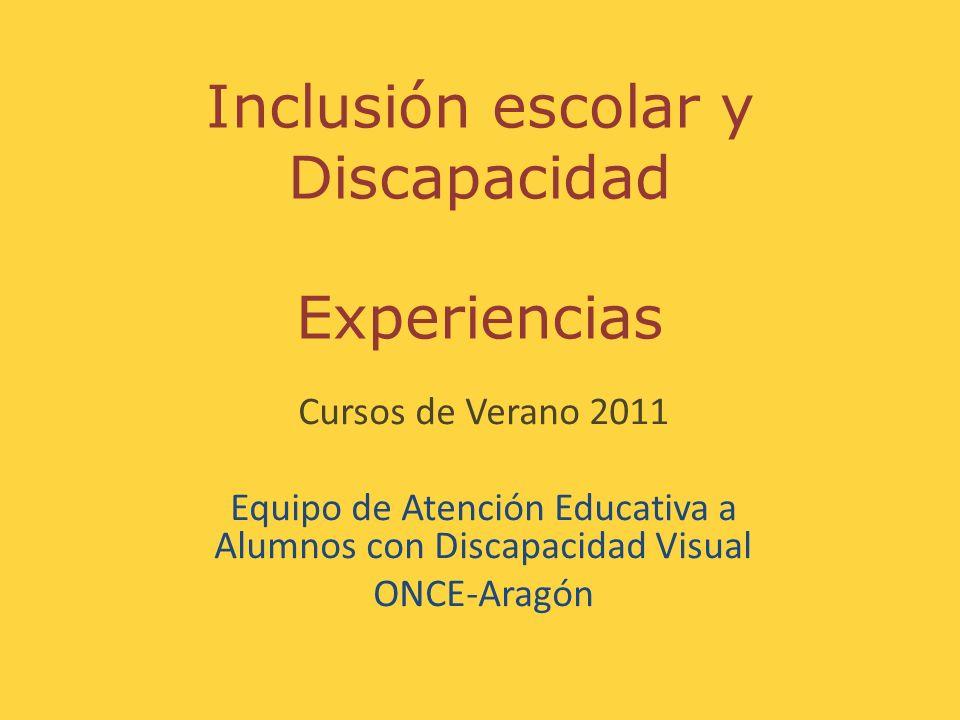 Inclusión escolar y Discapacidad Experiencias