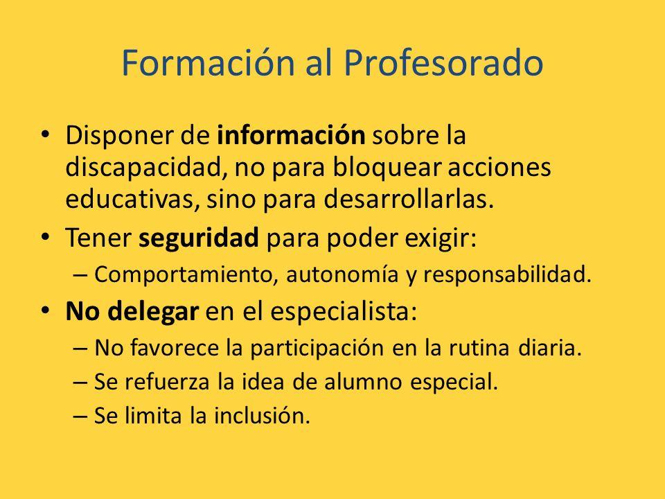 Formación al Profesorado