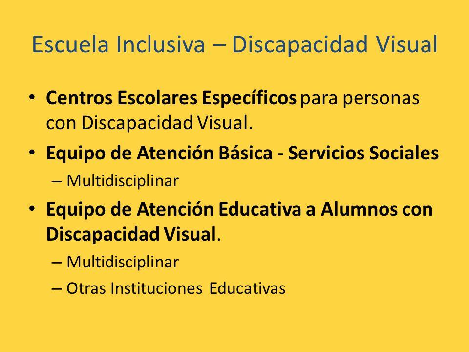 Escuela Inclusiva – Discapacidad Visual