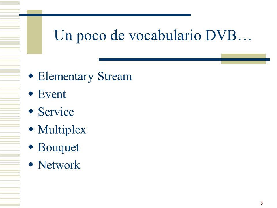 Un poco de vocabulario DVB…
