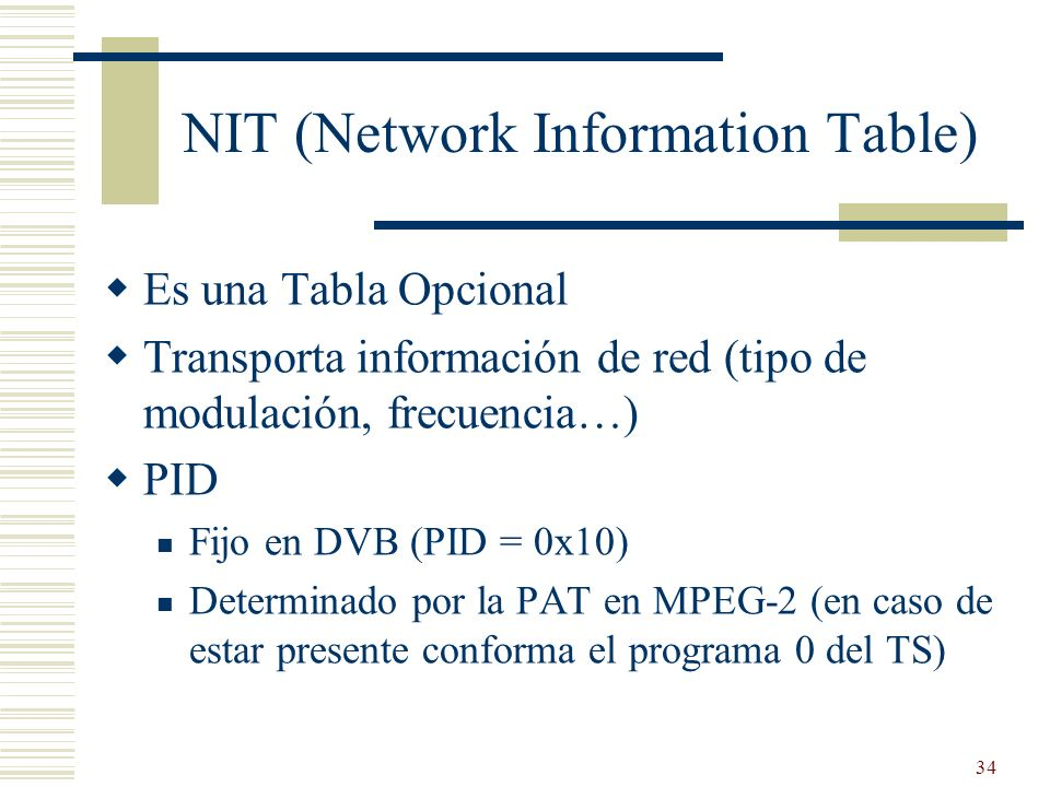 NIT (Network Information Table)