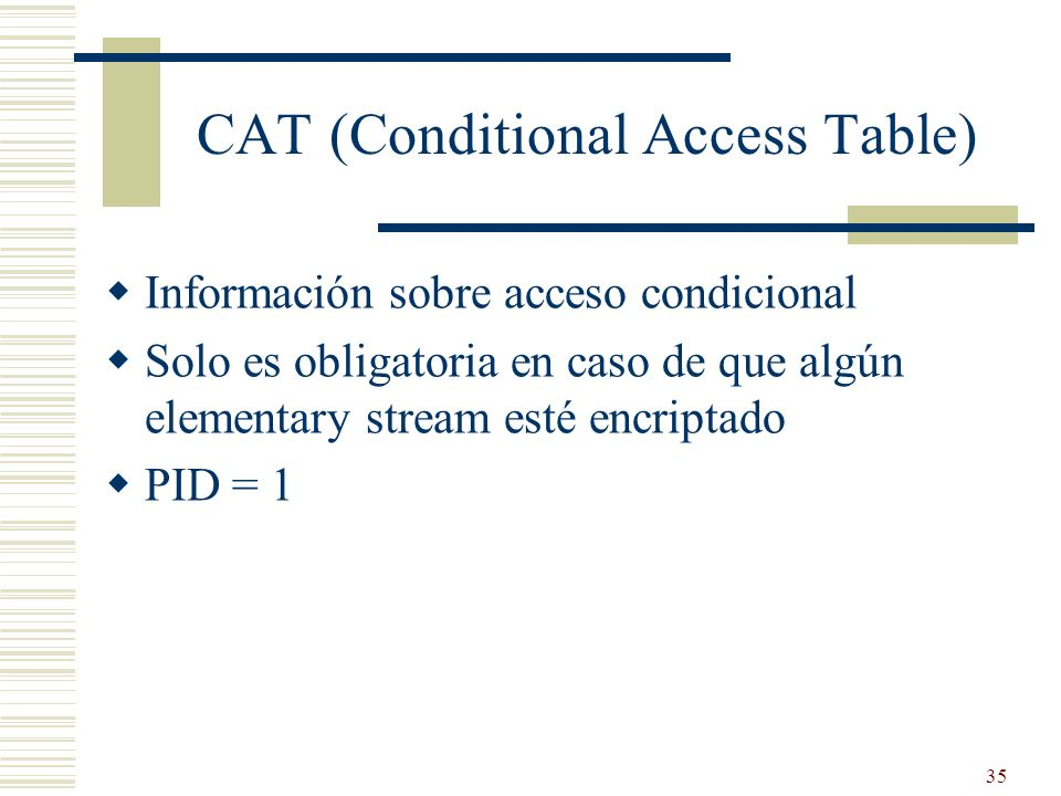 CAT (Conditional Access Table)