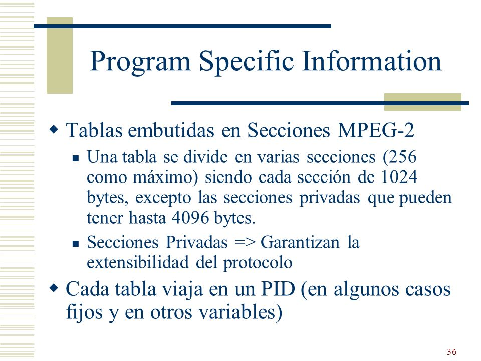 Program Specific Information