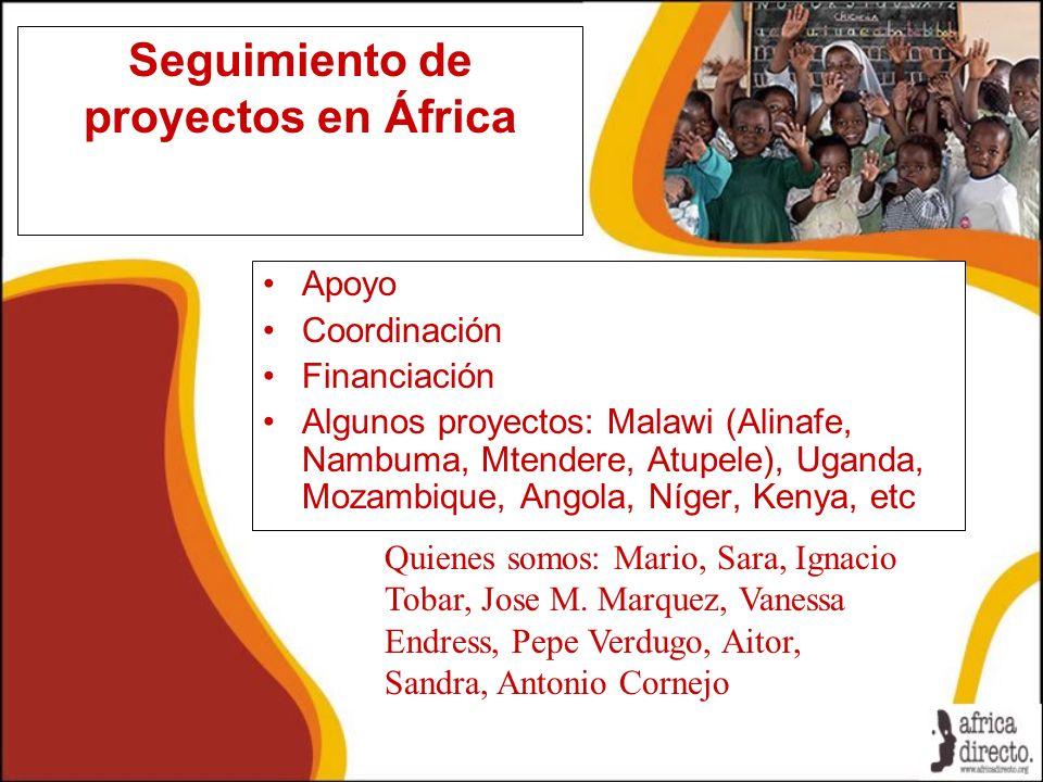 Seguimiento de proyectos en África