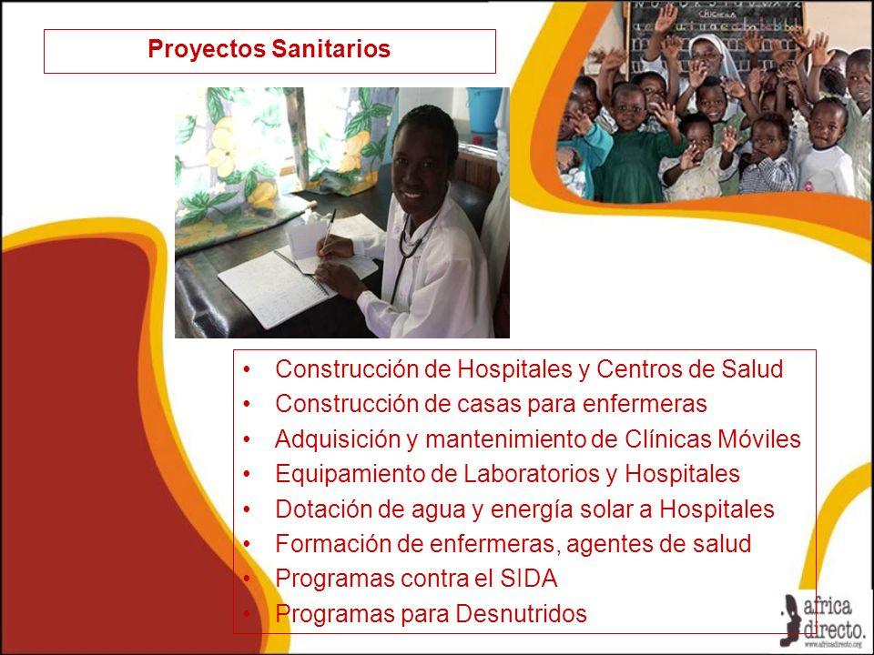 Proyectos Sanitarios Construcción de Hospitales y Centros de Salud. Construcción de casas para enfermeras.