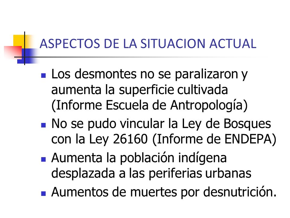 ASPECTOS DE LA SITUACION ACTUAL