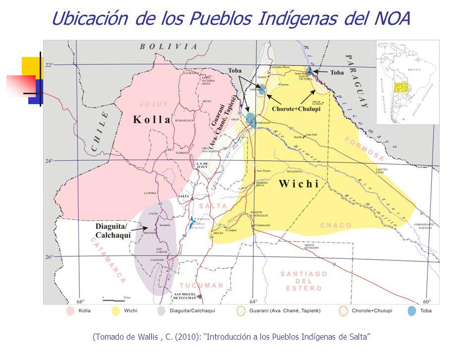 Ubicación de los Pueblos Indígenas del NOA