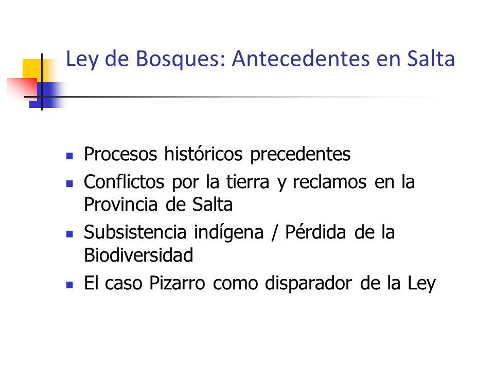 Ley de Bosques: Antecedentes en Salta