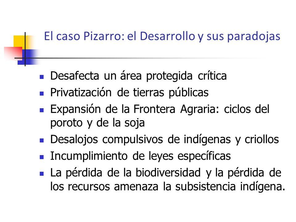 El caso Pizarro: el Desarrollo y sus paradojas