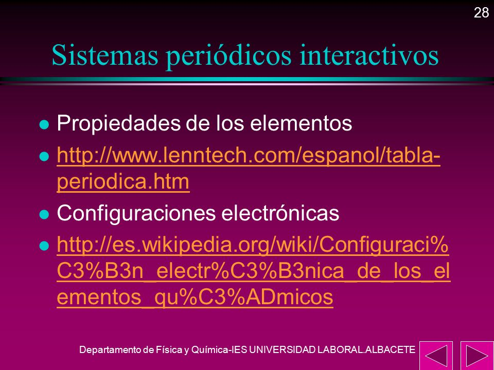 28 sistemas peridicos interactivos - Tabla Periodica Lenntech