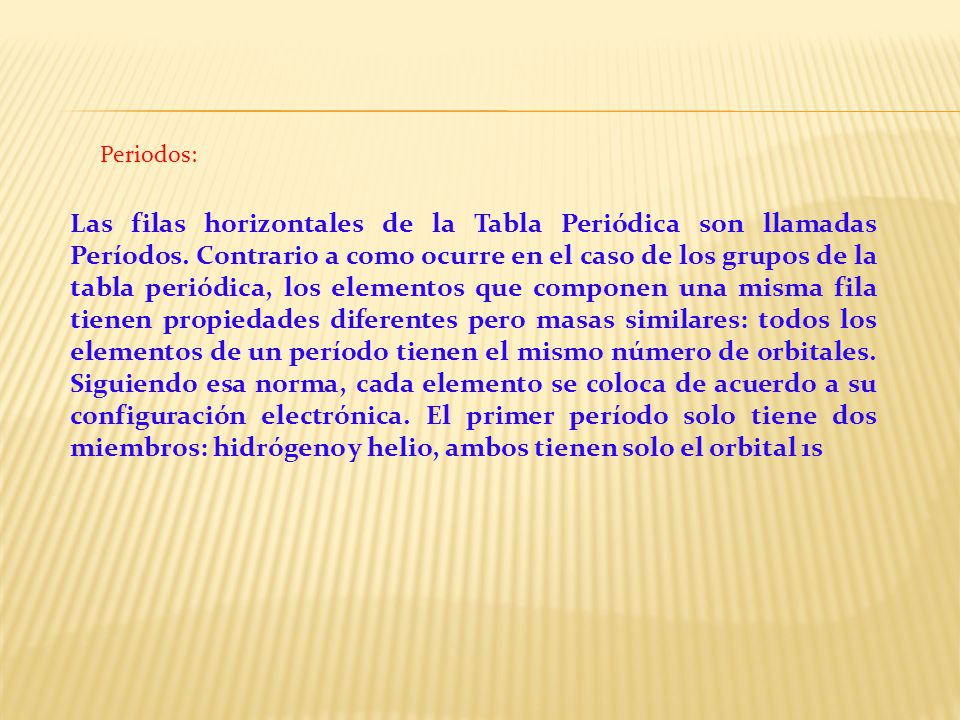 La tabla peridica lic amalia vilca prez ppt video online descargar 6 periodos las filas horizontales de la tabla peridica urtaz Choice Image