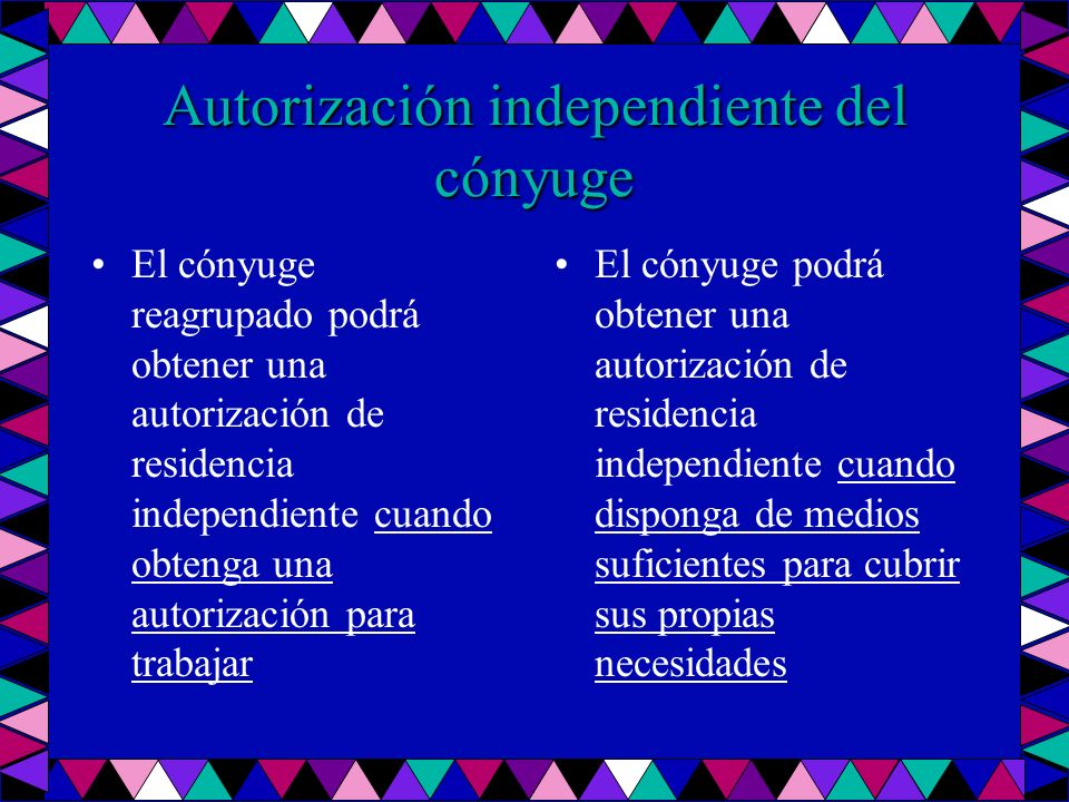 Autorización independiente del cónyuge