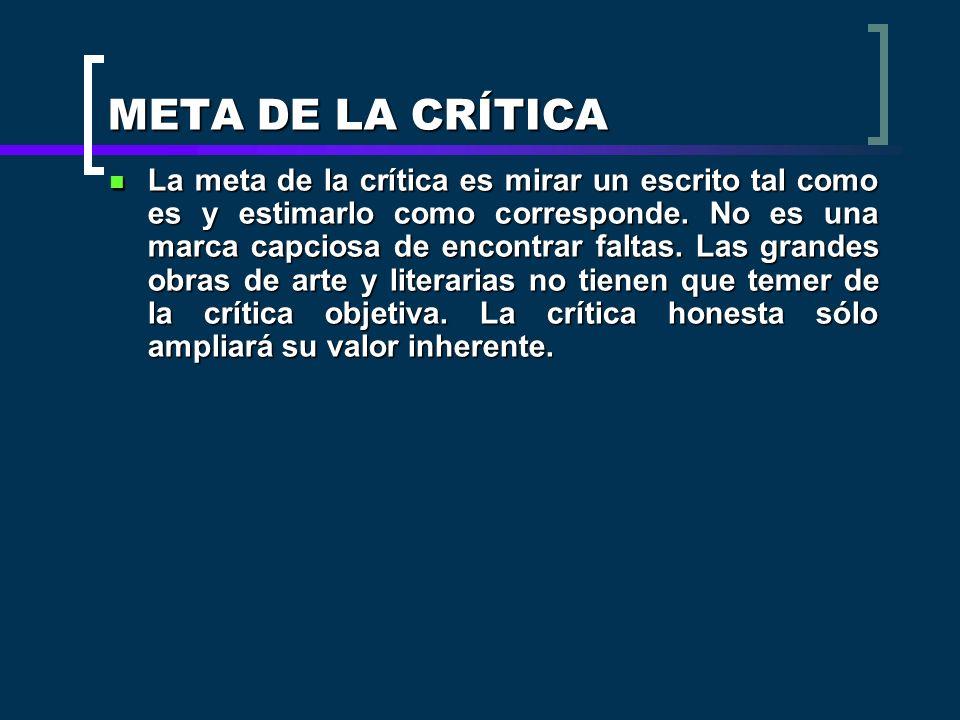 META DE LA CRÍTICA