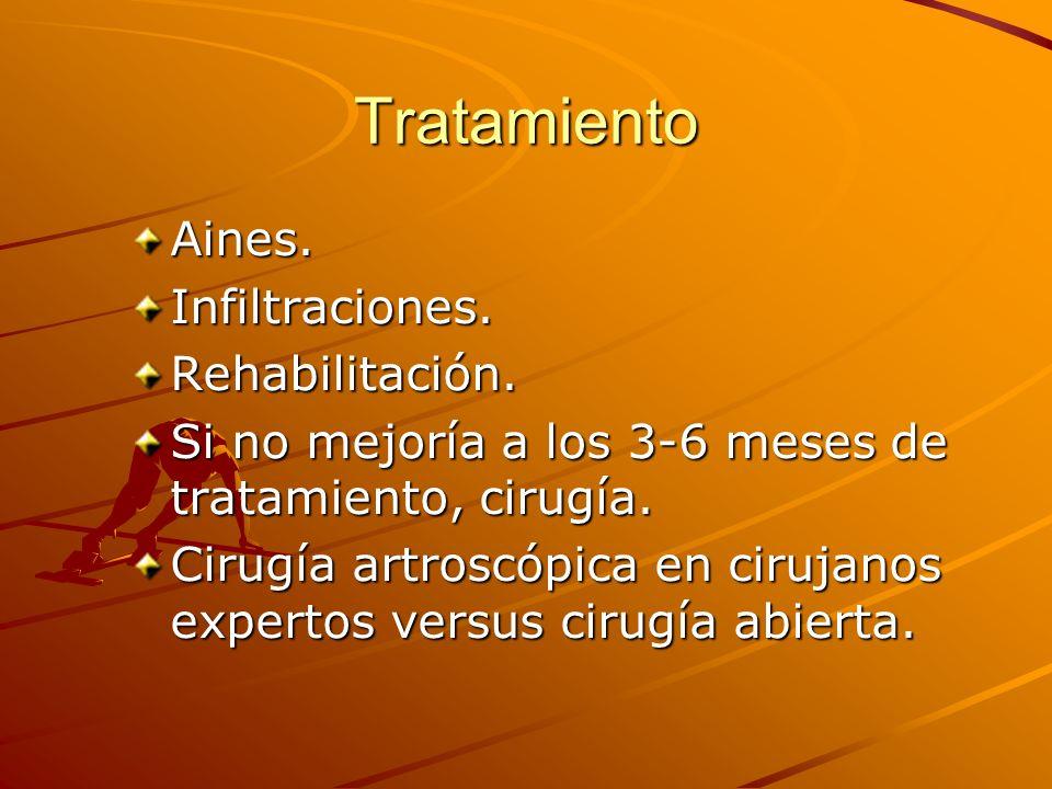 Tratamiento Aines. Infiltraciones. Rehabilitación.
