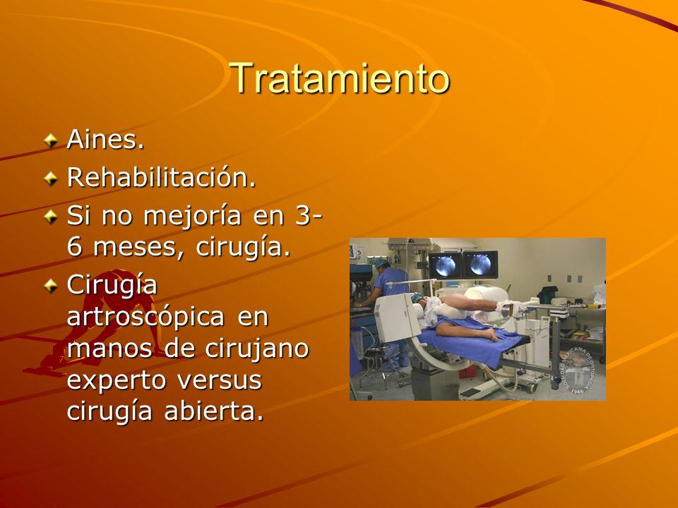 Tratamiento Aines. Rehabilitación.