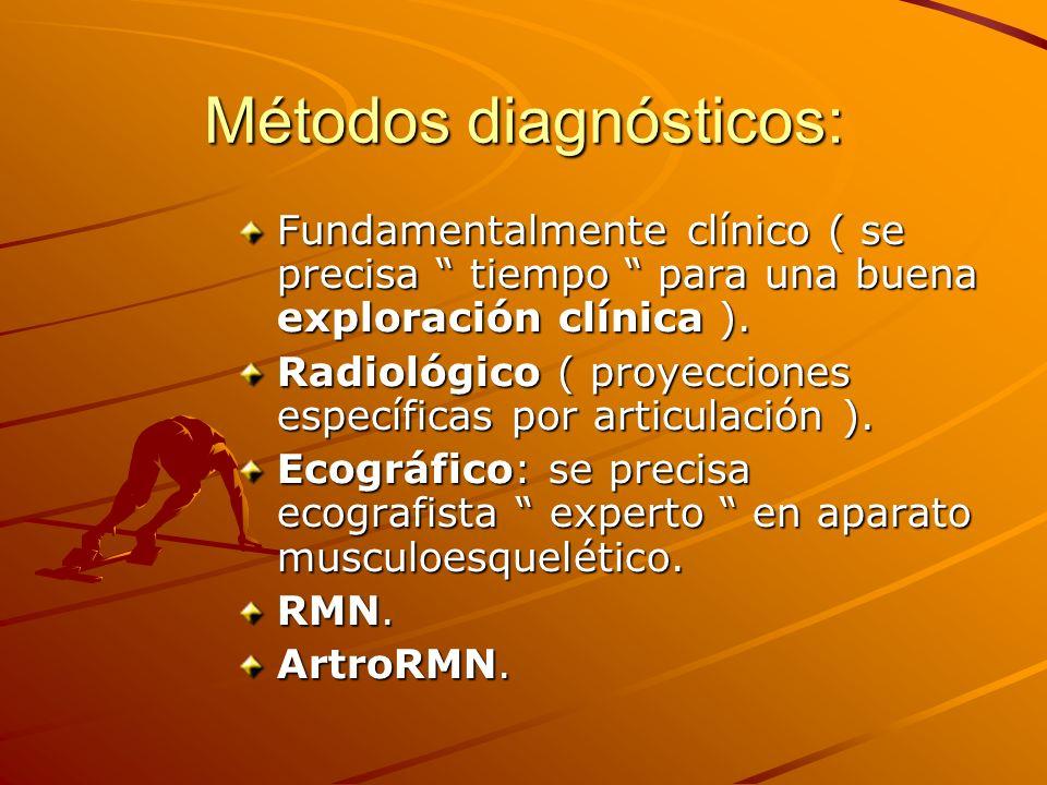 Métodos diagnósticos: