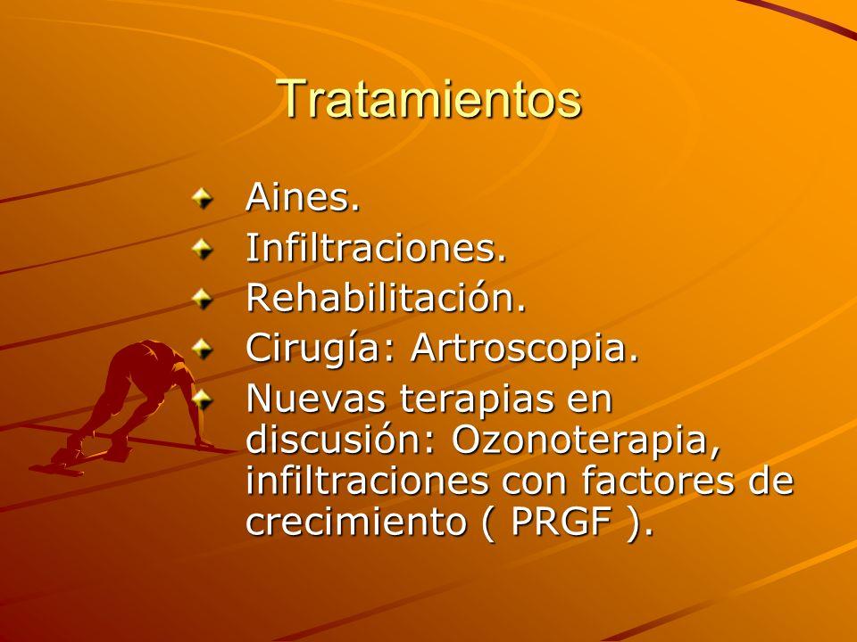 Tratamientos Aines. Infiltraciones. Rehabilitación.