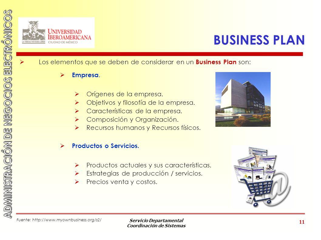 BUSINESS PLAN Los elementos que se deben de considerar en un Business Plan son: Empresa. Orígenes de la empresa.