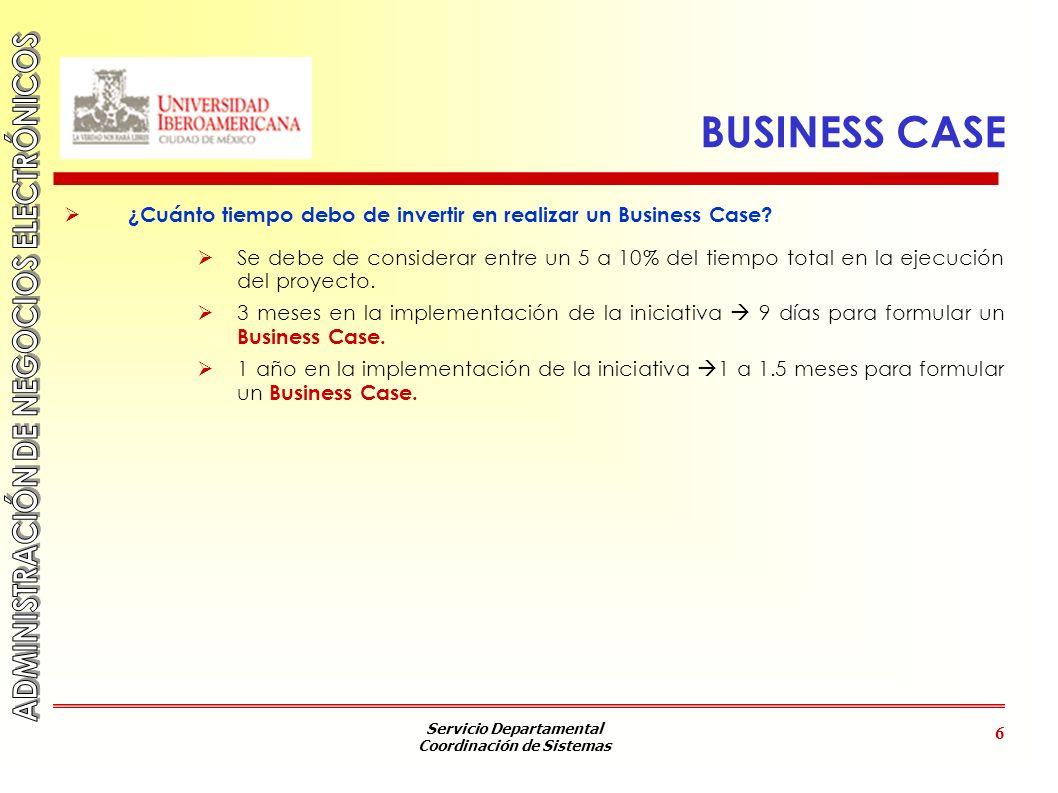 BUSINESS CASE ¿Cuánto tiempo debo de invertir en realizar un Business Case