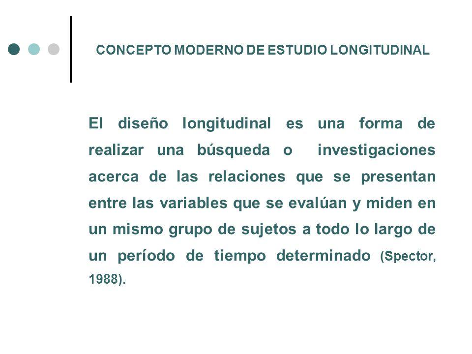 CONCEPTO MODERNO DE ESTUDIO LONGITUDINAL