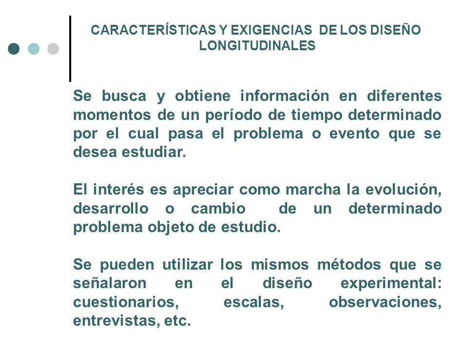 CARACTERÍSTICAS Y EXIGENCIAS DE LOS DISEÑO