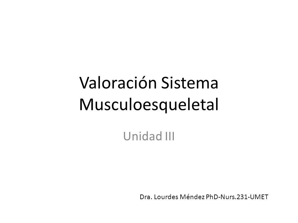 Valoración Sistema Musculoesqueletal