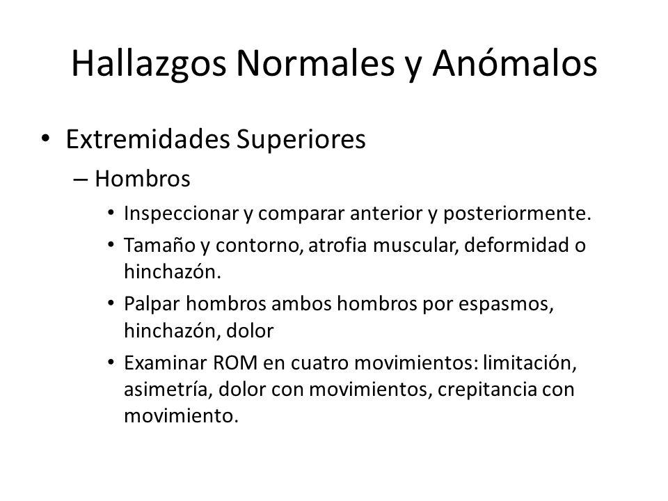 Hallazgos Normales y Anómalos