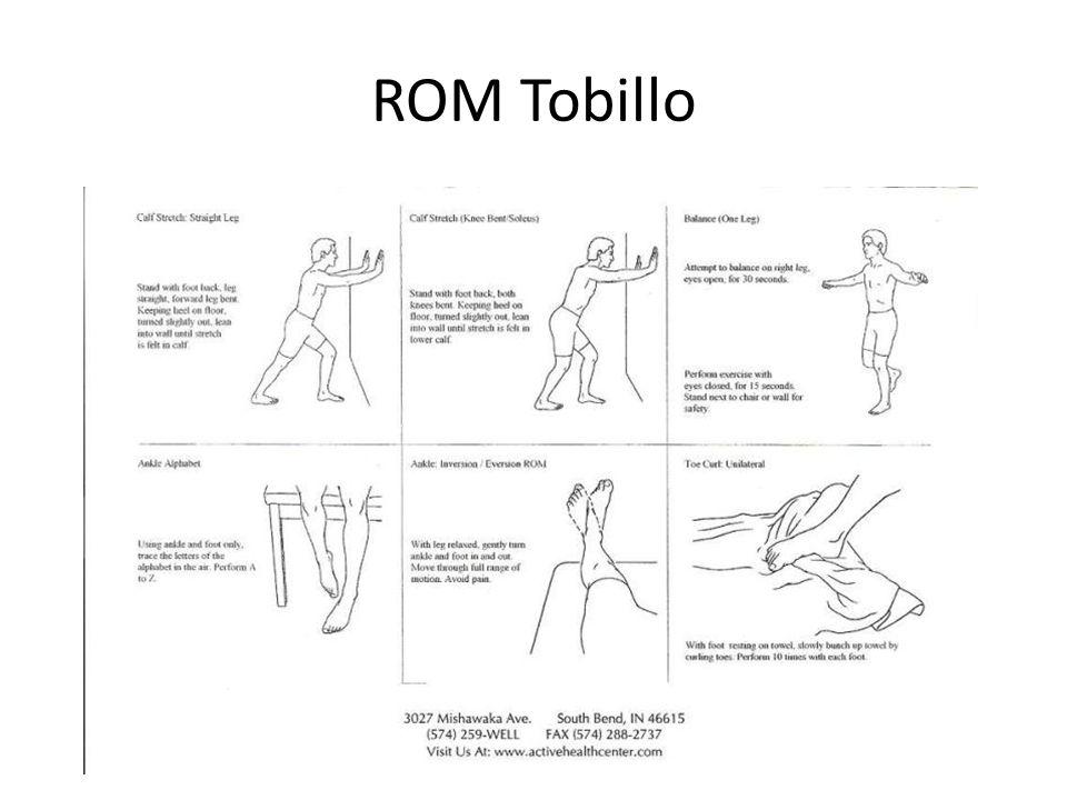 ROM Tobillo