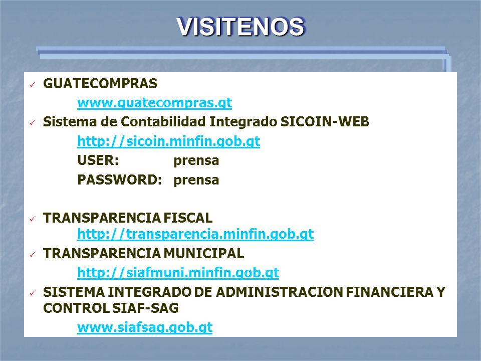 VISITENOS GUATECOMPRAS www.guatecompras.gt