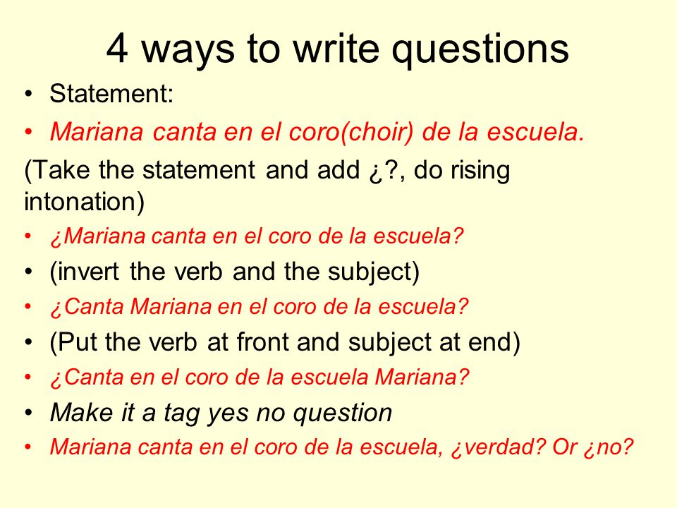 4 ways to write questions