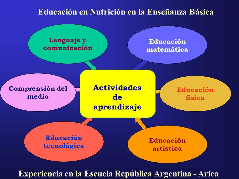 Educación en Nutrición en la Enseñanza Básica
