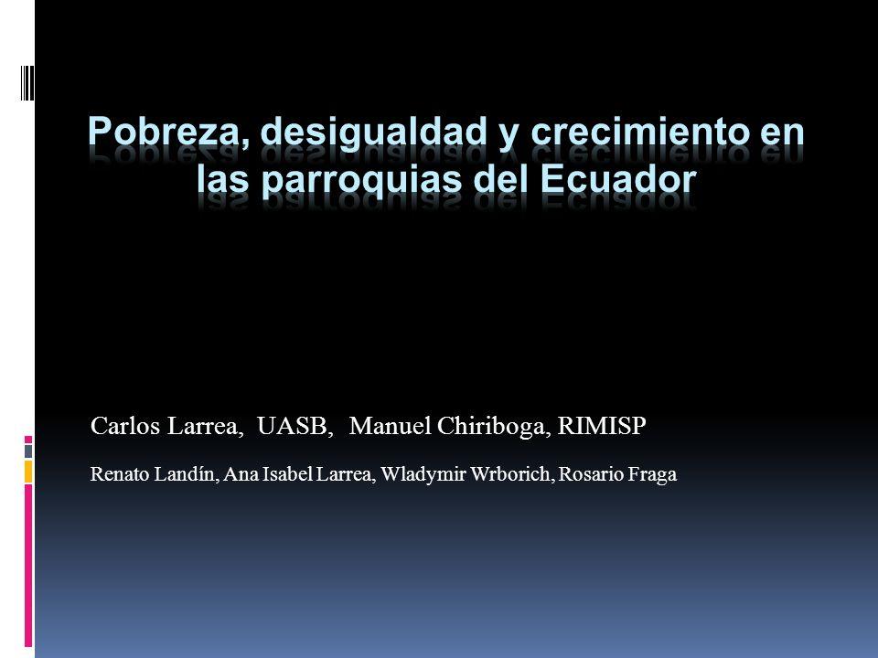 Pobreza, desigualdad y crecimiento en las parroquias del Ecuador