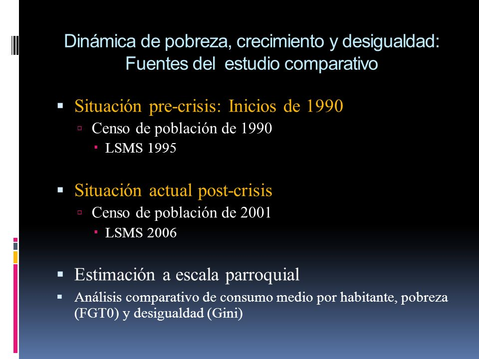 Situación pre-crisis: Inicios de 1990