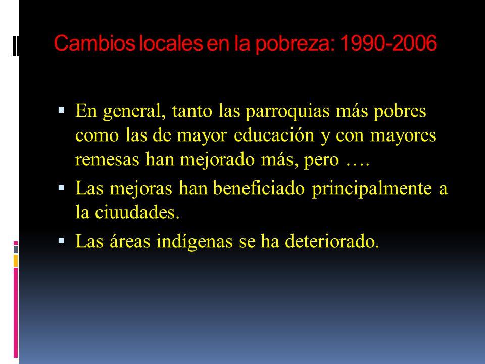 Cambios locales en la pobreza: 1990-2006
