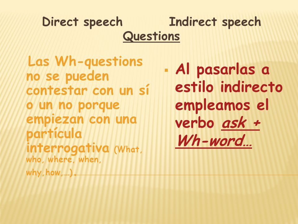 how to change questions to indirect speech