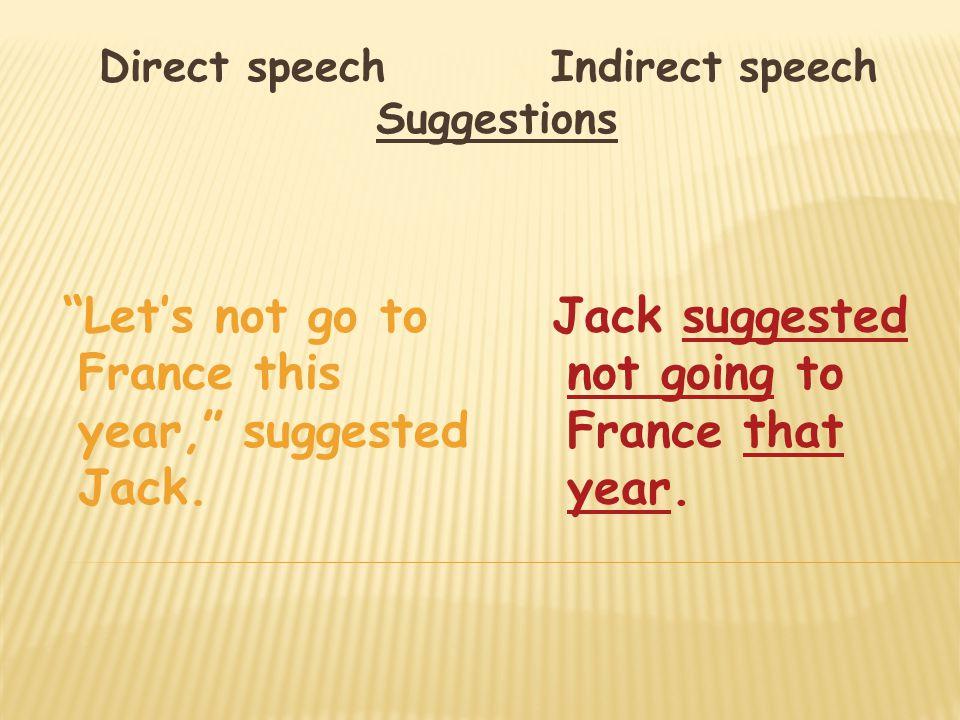 indirect speech to direct speech pdf