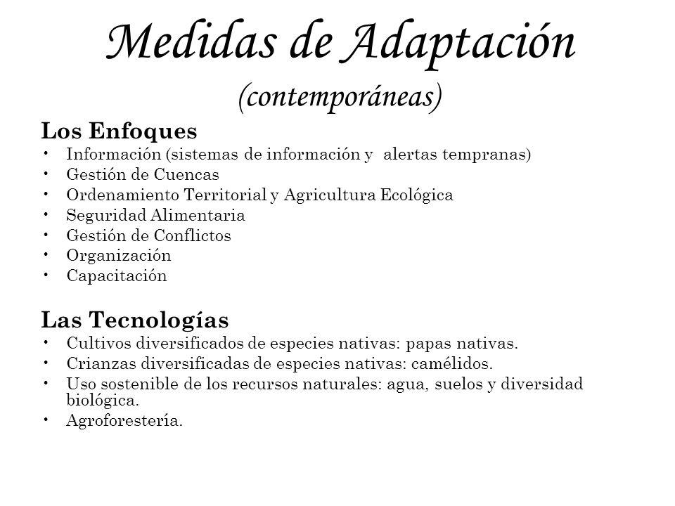 Medidas de Adaptación (contemporáneas)