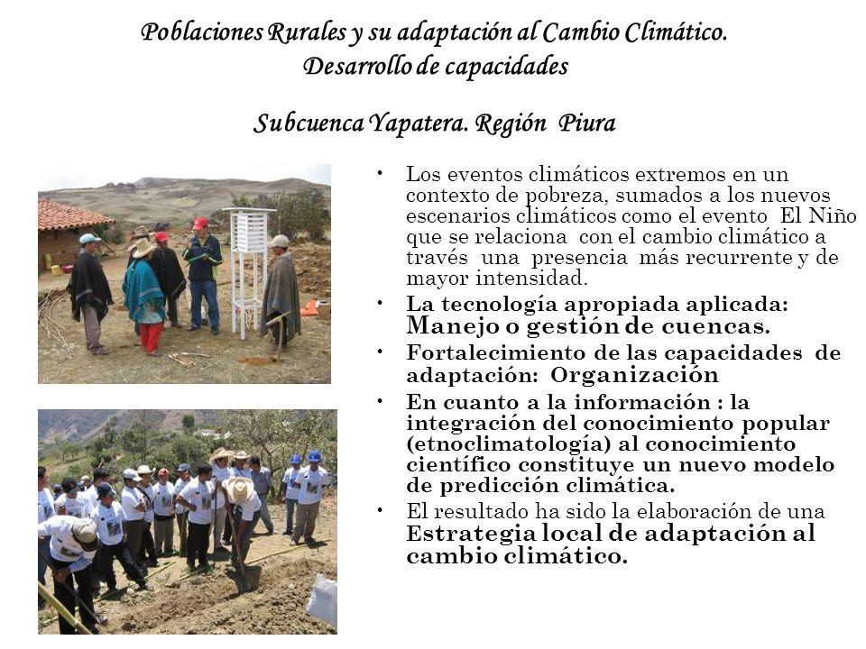 Poblaciones Rurales y su adaptación al Cambio Climático