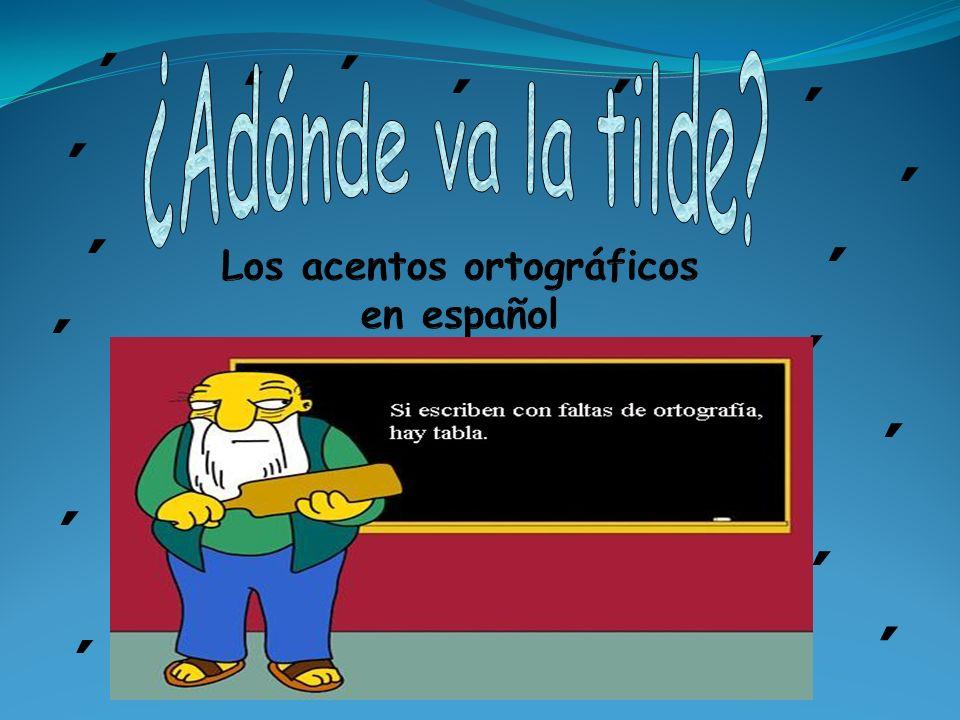 Los acentos ortográficos en español