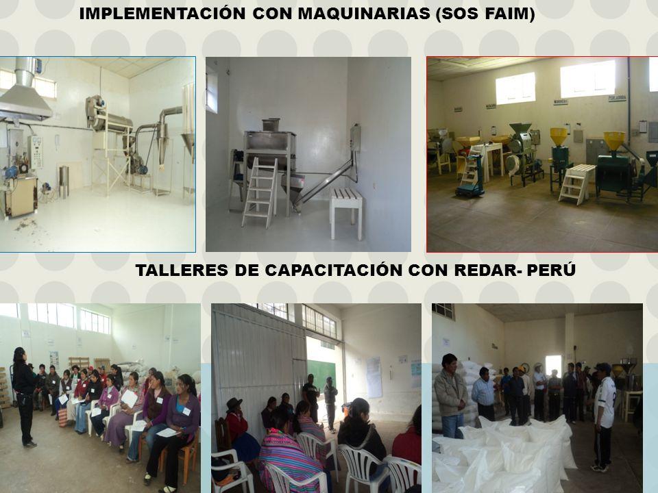 IMPLEMENTACIÓN CON MAQUINARIAS (SOS FAIM)